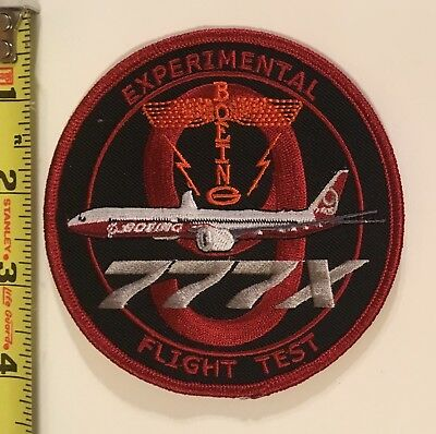 Boeing Flight Test Patch   777X Experimental Flight Test For New 777 Aircraft