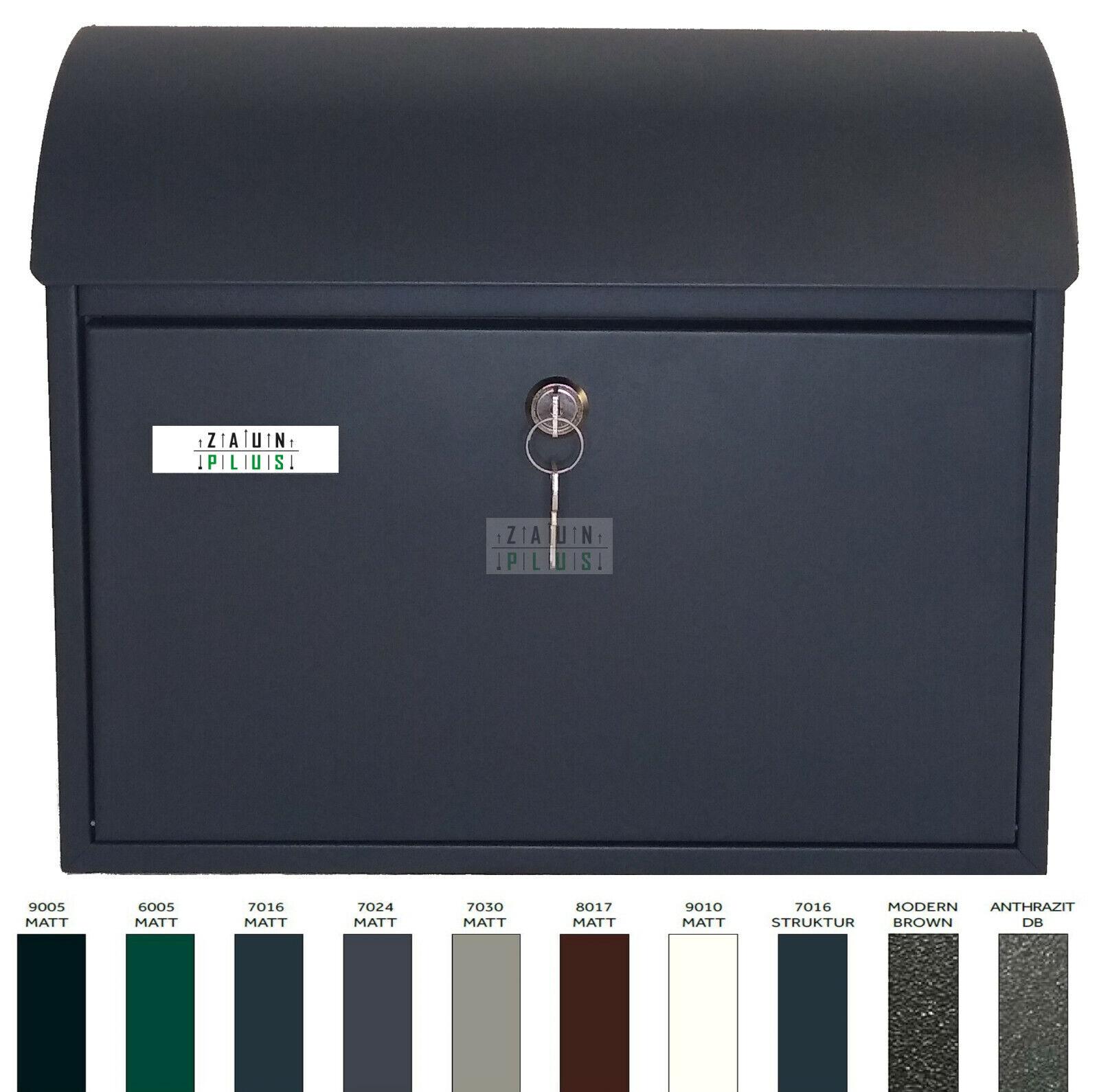 PREMIUM Briefkasten 40x33x12cm viele Farben Wand-// Zaunmontage Metall Postkasten