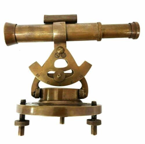 Vintage Brass Theodolite Alidade Telescope Compass Mini  Alidade  handmade style