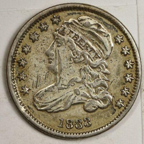 1833 Bust Dime.  A.U. Detail.  147605