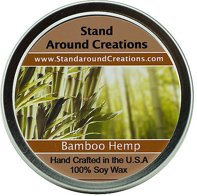 Premium 100% All Natural Soy Wax Candle - 4 oz Tin - Bamboo (Bamboo Soy Candle)
