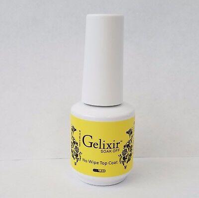 GELIXIR - Soak Off No-wipe Top Coat - .5 Oz / 15 mL