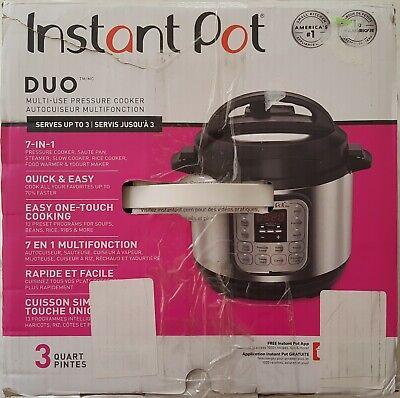 Instant Pot Duo Mini 3Qt 7-in-1 Multi-Use Programmable Pressure Cooker