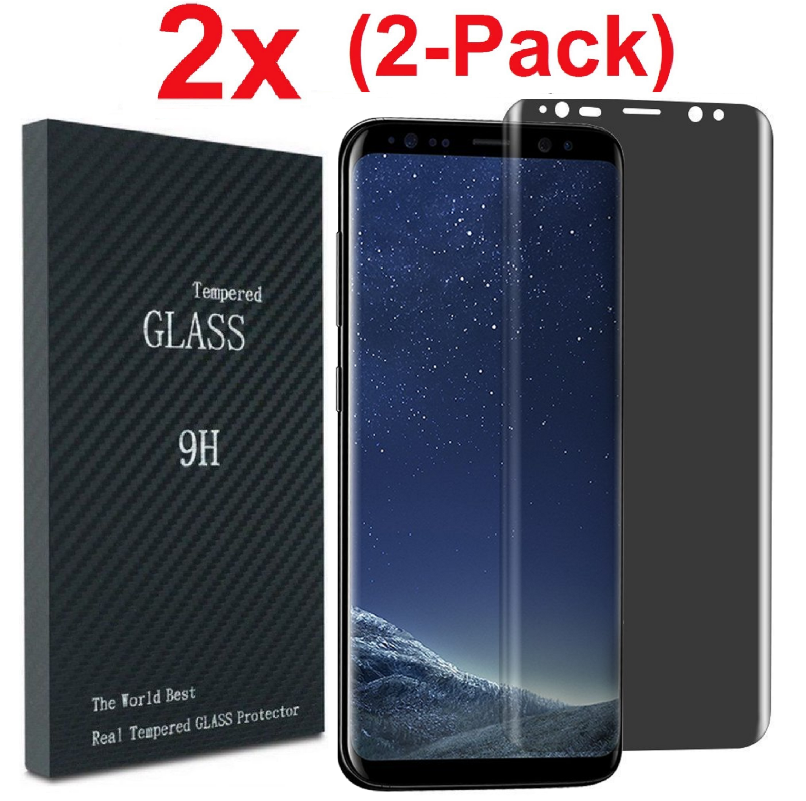 For Samsung Galaxy S8 / S9 Plus Privacy Anti-Spy Tempered Gl