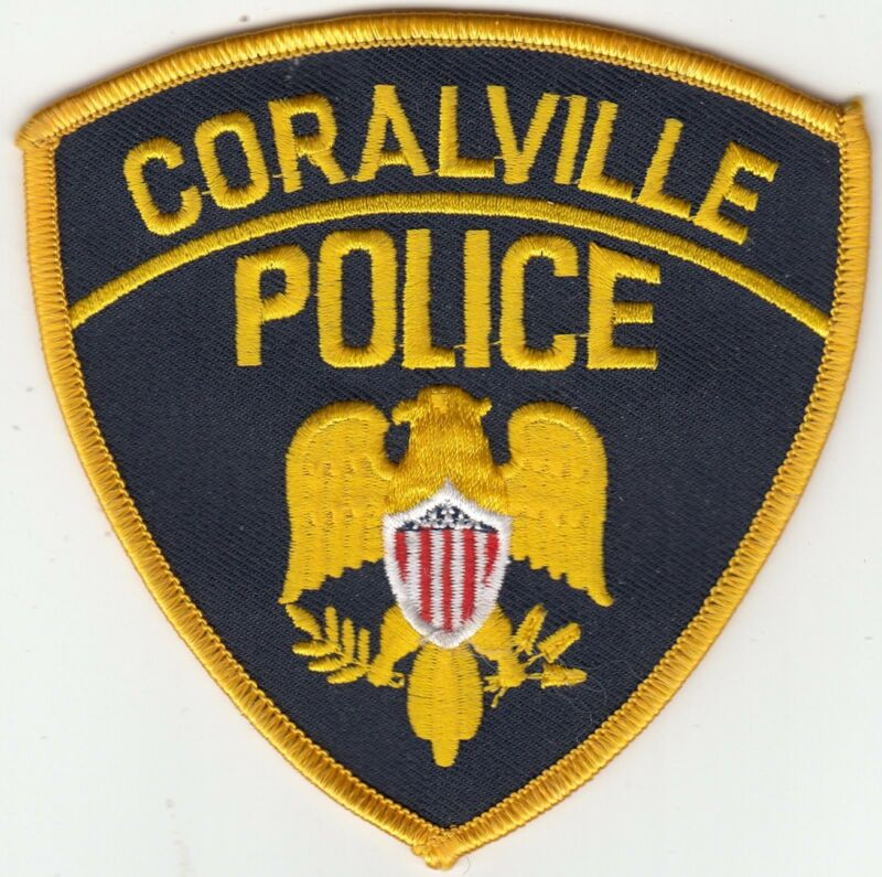 CORALVILLE POLICE SHOULDER PATCH IOWA IA