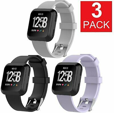 3 PACK  For Fitbit Versa Replacement Bands Smart Watch Sport Band 3 PACK Fit Tech Parts