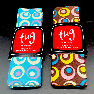 tug(s) - Lot Of 2- Standard Stretch Book Cover By Foray - New With Tags