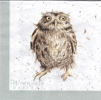 Wrendale Country Set Paper Napkins Owls