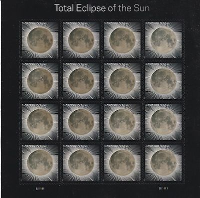 Total Eclipse Of The Sun Solar Moon Forever Stamps Sheet Of 16   Free Shipping