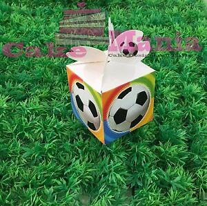 10 scatoline porta confetti tema calcio dimensioni 6x6x6 - Dimensioni porta calcio ...