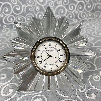 Elegant Waterford Crystal Congratulations Clock Desktop Paperweight Prism Star Elegante Waterford Crystal