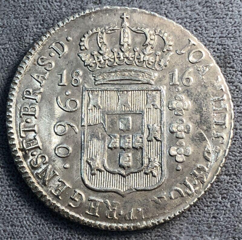 Brazil 960 Reis, 1816 B. KM# 307.1.