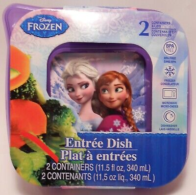 Storage Container DISNEY FROZEN Entree Dish 2 Piece Lunch Food Kit Reusable