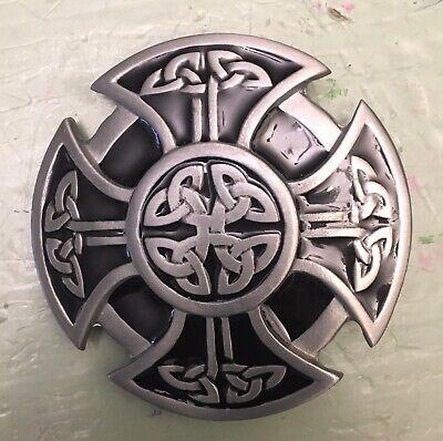 "FANCY CELTIC KNOT ROPE  DESIGN IRISH BELT BUCKLE IRON CROSS 2 5/8"" X 2 (Design Belt Buckle)"