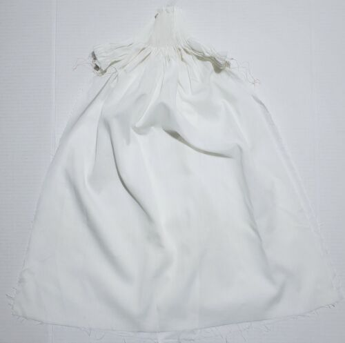 Bishop Baby Gown Dress PLEATED Ready to SMOCK & Sew SMOCKING Fine White Batiste