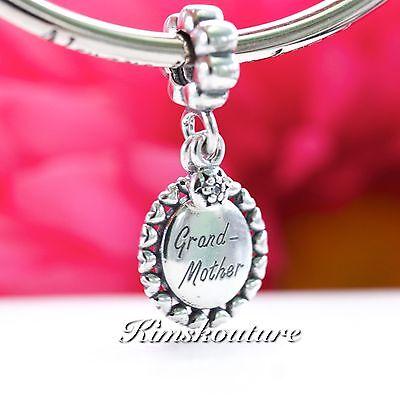 Authentic Pandora Pendant Grandmother Sterling Silver Charm 791128CZ