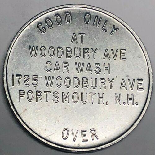 # C8577    PORTSMOUTH,  N.H.  ALUMINUM  TOKEN,  WOODBURY AVE. CAR WASH,