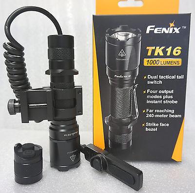Fenix TK16 LED Flashlight Tactical Weapon Kit Offset Mount a