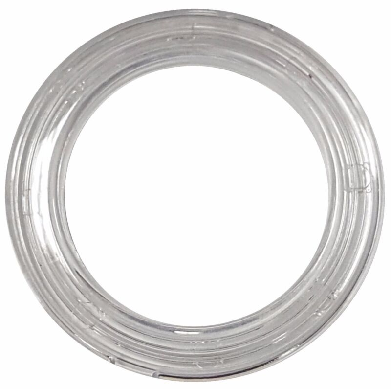 MICRON CLEAR PLASTIC-ROUND CURTAIN GROMMET; PLAIN WASHER #15 (ID: 50mm) (12pcs)