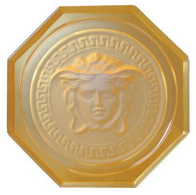 Rosenthal Versace Medusa Glasuntersetzer Ø 10,5cm, II.Wahl in amber - AE 915