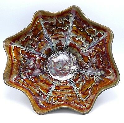 Large Studio Art Pottery Bowl Centerpiece 14