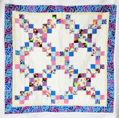 """Handmade Quilted Patchwork Table Topper or Wall Hanging 24"""" X 24"""""""