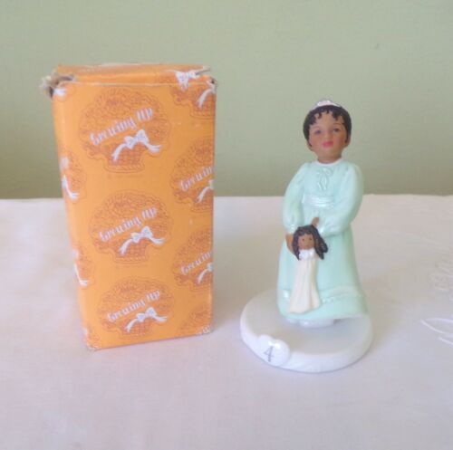 RARE Vintage Growing Up Birthday Girls Enesco African American Age 4 1996 Box