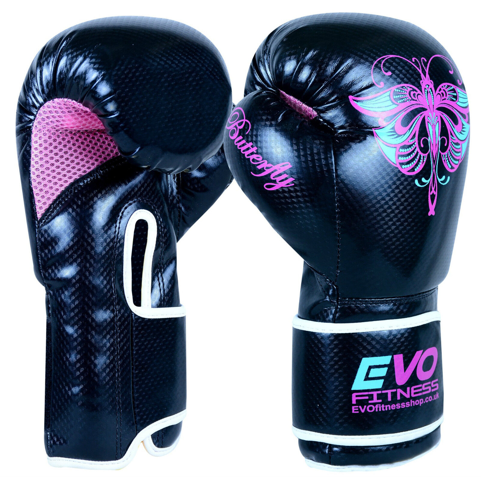Boking Gloves: Evo Ladies Boxing Gloves GEL Fight MMA Punch Bag Leather