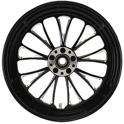 """Manhattan """"Black Cut"""" CNC 16"""" x 3.5"""" Rear Wheel for Harley & Custom Models"""