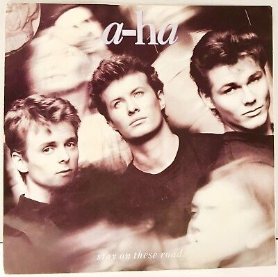 """a-ha Stay On These Roads 45 Vinyl Record 7"""" Single Picture Sleeve"""