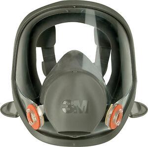3M Atemschutz 6800 Vollmaske Gas Partikel Maske Filter Silikon Größe M