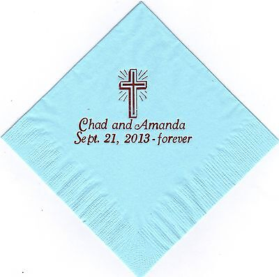 Personalized Dinner Napkins (CROSS LOGO 50 Personalized printed LUNCHEON DINNER napkins)