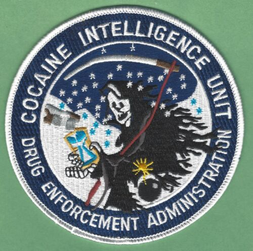 DEA DRUG ENFORCEMENT ADMINISTRATION COCAINE INTELLIGENCE UNIT SHOULDER PATCH