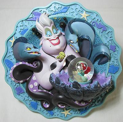 RARE! Disney's LITTLE MERMAID: 3D Plate W/ Princess ARIEL Snowglobe: Ltd Edition