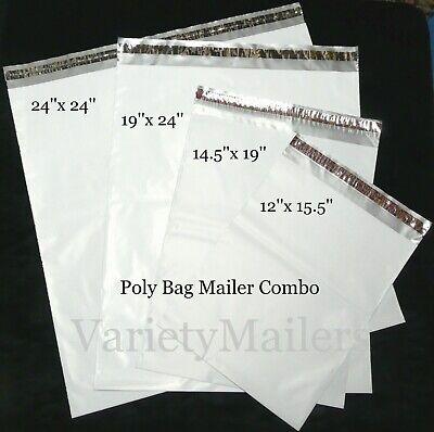 20 Poly Bag Mailer Variety Pack 4 Large Sizes 2.5 Mil Shipping Envelopes