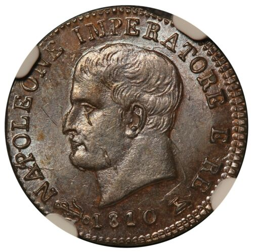1810/00-V Italy Kingdom of Napoleon One Centesimo Coin - NGC MS 63 BN - C# 5.1