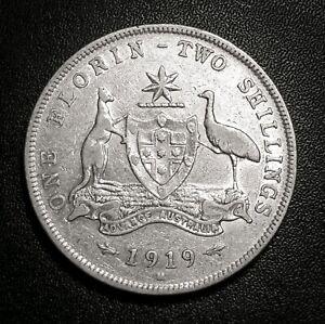 1919 Australian florin #2 - predecimal coin