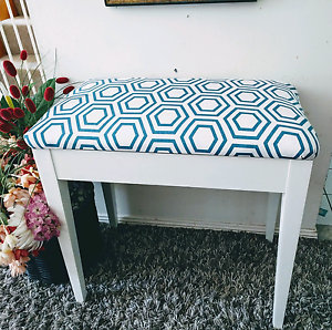 Gorgeous Stool with new upholstery! Mitchelton Brisbane North West Preview