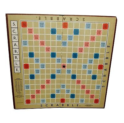 Scrabble GAME BOARD ONLY Copyright 1948 Vintage Original Replacement Board Piece