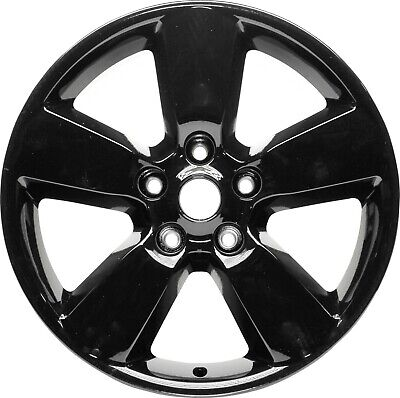 "Aluminum Alloy Wheel Rim 20 Inch 2013-2019 Dodge Ram 1500 5x5.5"" 5 Spoke Black"