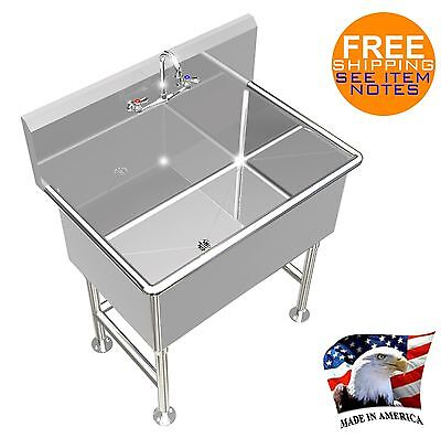 Hand Sink 36x24x14deep Tub Heavy Duty Stainless Steel 4 Legs Made In America