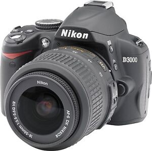 NIKON D3000 10.2MP DIGITAL SLR CAMERA WITH 18-55MM LENS.
