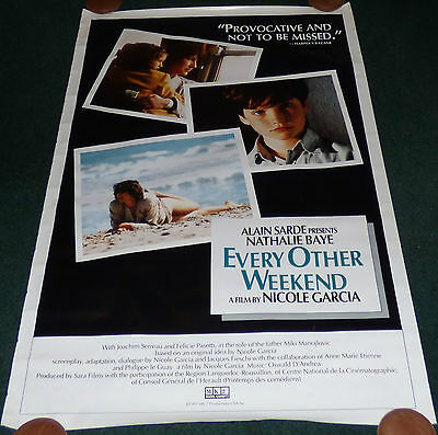 EVERY OTHER WEEKEND 1990 ORIGINAL ROLLED 1 SHEET MOVIE POSTER NATHALIE BAYE