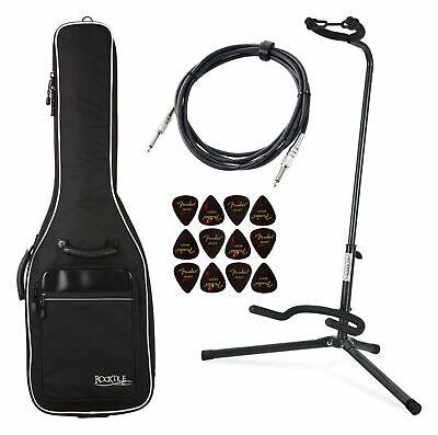 Rocktile Set de Accesorios para Guitarra Electrica Funda Soporte Púas Jack Cable