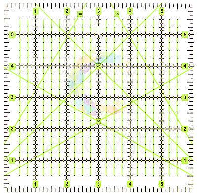 "6"" x 6"" Quilting Patchwork Ruler Premium Rotary Craft Square Imperial"