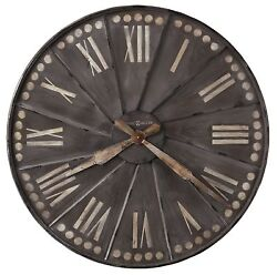 625-630 -THE STOCKARD, OVERSIZED 35 INCH WALL CLOCK BY HOWARD MILLER