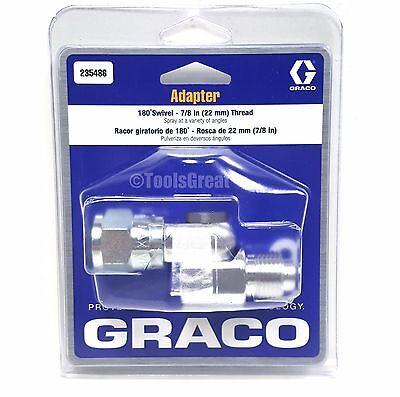 Graco 235486 180 Degree Angle Spray Gun Swivel Adapter 78 22mm