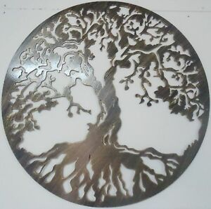 details about tree of life metal art antique look wall decor