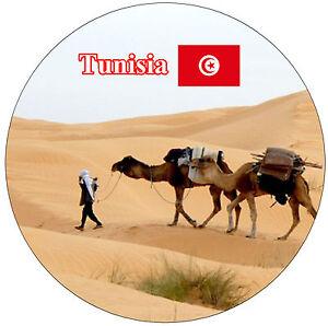 TUNISIA-SUN-VISTE-BANDIERE-ROTONDO-NEGOZIO-DI-SOUVENIR-MAGNETE-DEL-FRIGORIFERO