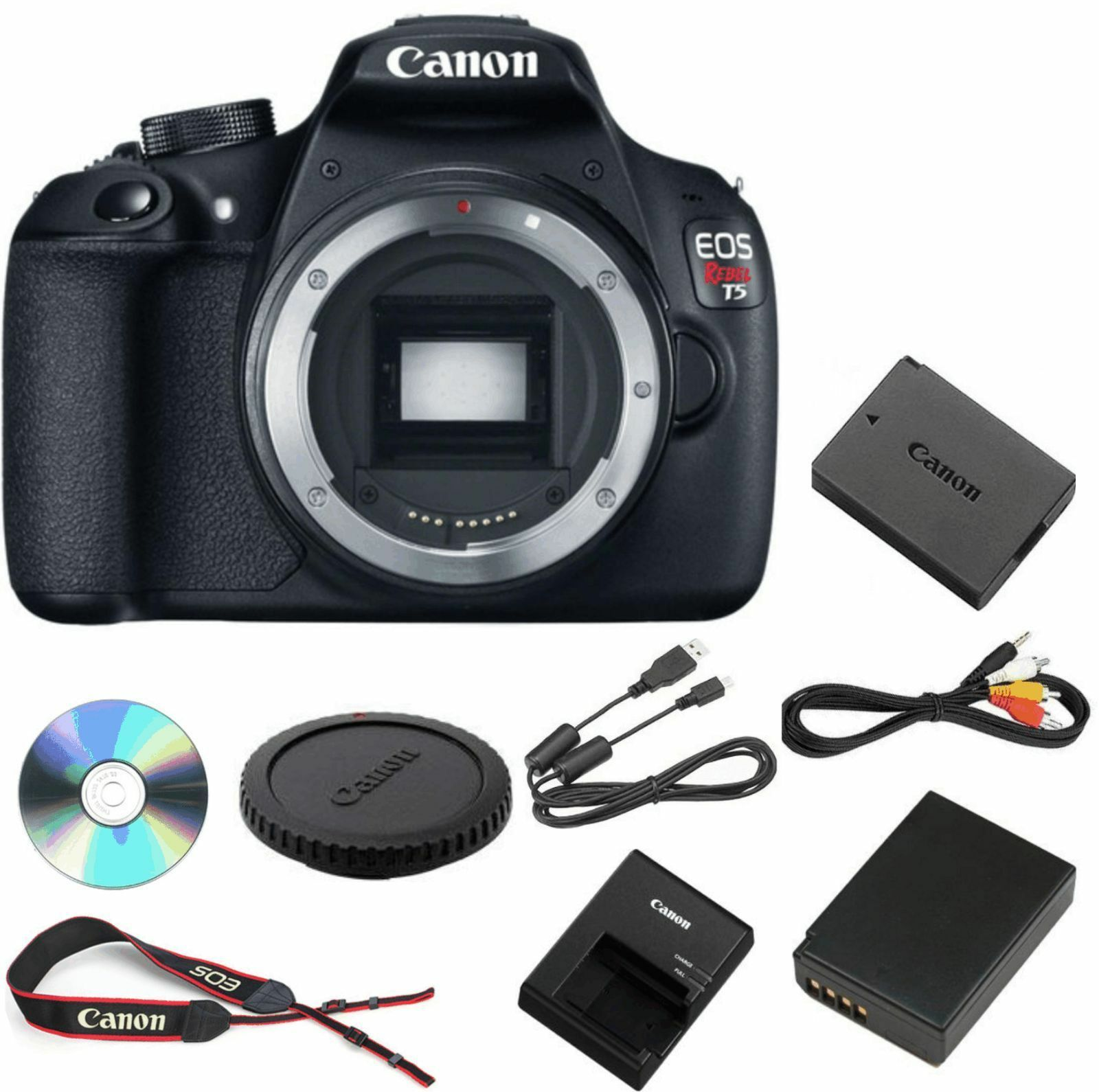 Canon Rebel T5 DSLR 18.0MP Camera w/ EF-S 18-55mm IS II Lens (2 LENSES)